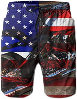 Mens Hawaiian Quick Dry Swim Trunks Slim fit Sports Board Shorts Beachwear Pants