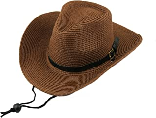 Classic Women's Men's Unisex Crushable Pannama Hat Foldable Packable Summer Straw Gangster Cowboy Fedora Cap Beach Sun Hat with String Wide Brim UPF 50+ Bucket Outdoor Fishing Hunting Hats