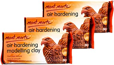 Mont Marte Modelling Clay Air Hardening Terra 3Pack, Ideal Choice for Professional Artists or Students.