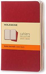 Moleskine Set de 3 cahiers lignés Format de poche