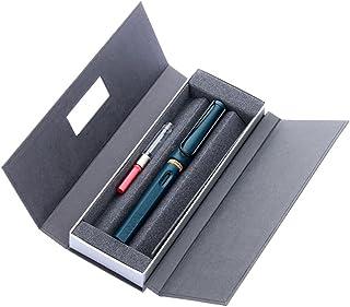 LAMY 凌美 safari狩猎者标准F尖墨水笔(钢笔)限量磨砂蓝灰色-E107礼盒包装(标配吸墨器)