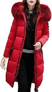 6dcdb43e0e Longra Grande Taille Manteau à Capuche Femme Long Hiver Chaud Chic Doudoune  Femme Ultra Épais Parka