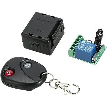 Festnight 433 Mhz DC 12V 2CH Telecomando senza fili RF Relay Ricevitore dellinterruttore della luce con trasmettitore per gli elettrodomestici Chip di controllo elettronico serratura 1527