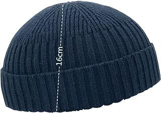 Fashion Fall Winter Knitted Hat Skull Cap Sailor Cap Cuff Beanie Vintage for Men Women