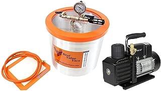 Best Value Vacs 3 Gallon Aluminum Vacuum Chamber and VE225 4CFM Two Stage Vacuum Pump Kit