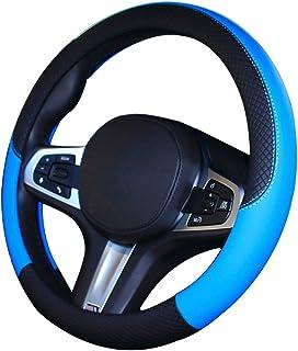 2-Beige Pahajim Auto Coprivolanti Anti Scivolo e Assorbimento del Sudore Auto di Copertura Wrap Universale e Resistente Coprivolante Auto 38cm//15