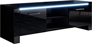 Mueble TV Modelo Elina (120x40cm) Color Negro con LED RGB