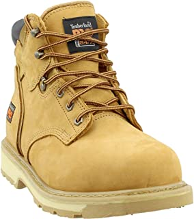 Timberland PRO Mens Pit Boss 6 Inch Steel Toe Work s Casual Work & Safety Shoes, Tan, 9.5