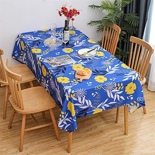 CCBAO Mantel Rectangular De Poliéster con Estampado De Mantel Impermeable para Hotel Y Restaurante Mantel para El Hogar 100x140cm