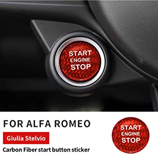 Adesivi per Telaio di Regolazione Aria condizionata AlfaRomeo Center Adatta per Alfa Romeo Giulia 2017