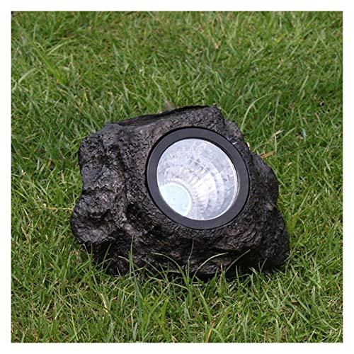 Dpsyszd Landschaftslichter Solar Steinlampe im Freien LED-Solarleuchte Steinform Wasserdicht, Landschaft, Rasen-Lampe for Gareden Dekoration Yard Pathway