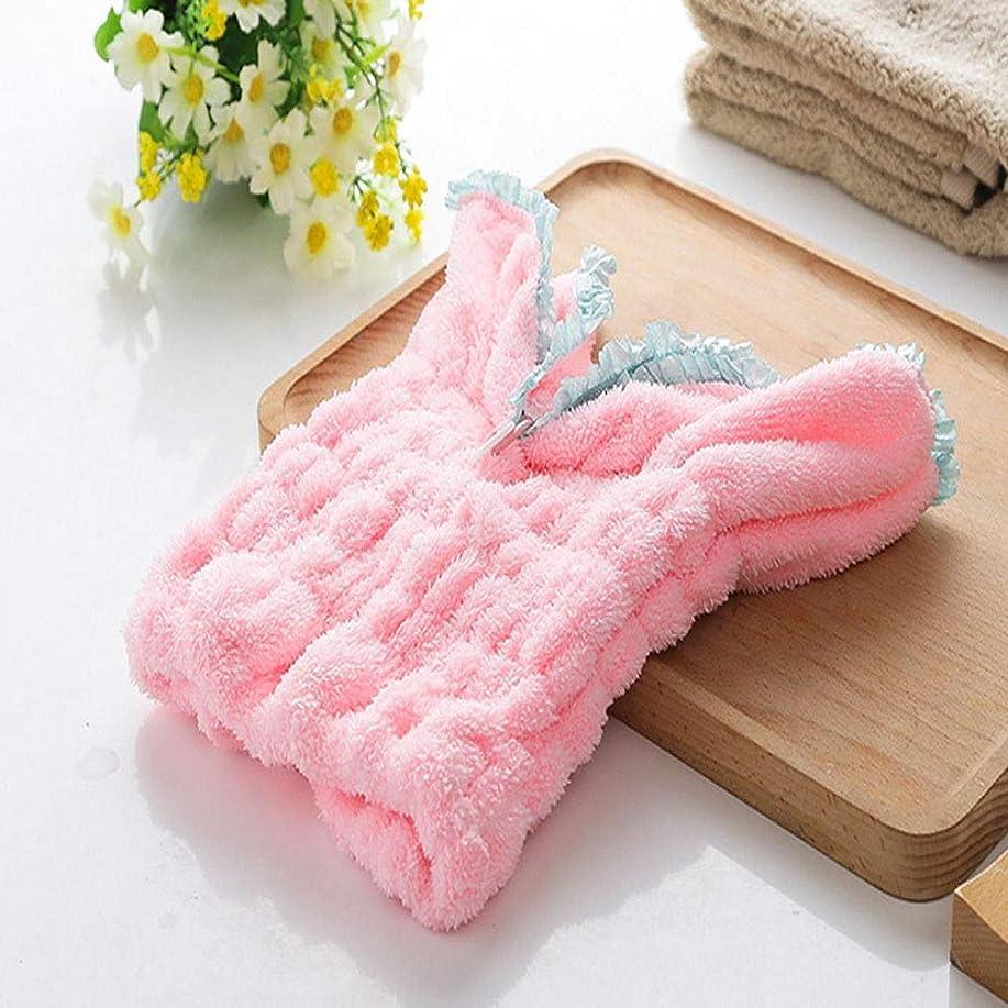 起こる横にれるYUXUANCIXIU シャワーキャップ、レディースシャワーキャップレディース用のすべての髪の長さと太さのデラックスシャワーキャップ - 防水とカビ防止、再利用可能なシャワーキャップ。 家庭用品 (Color : Pink)