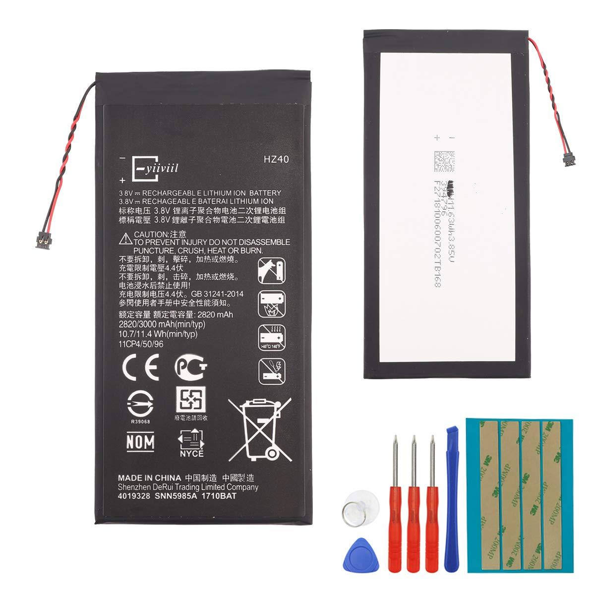 E-yiiviil - Batería de repuesto HZ40 compatible con Moto Z2 Play XT1710 SNN5985A 3,8 V con herramientas: Amazon.es: Electrónica