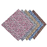 KEIBODETRD 5PCS Quilting Fabric, Stoff mit Leopardenmuster