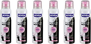 Nivea Women's Invisible Anti Perspirant Spray, 150 mL, Black/White, Pack of 6