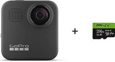 GoPro MAX - Waterproof 360 + Traditional Camera + PNY Elite-X 256GB U3 microSDHC Card (Bundle)