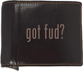 got fud? - Soft Cowhide Genuine Engraved Bifold Leather Wallet