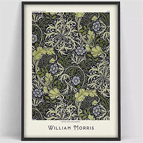 Nordisk stil 50 x 70 cm (19,7 x 27,6 tum) ingen ram William Morris Victoria Museum Utställning Canvas Målningar Väggkonst Bilder för rumsdekor