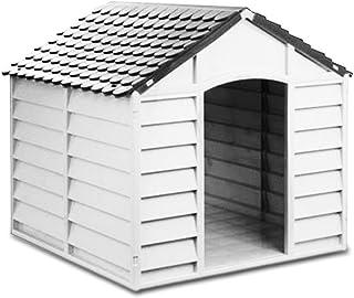 4568 Caseta de resina en forma de casa para perros PROLABZOO 78 x 85 x 80 cm - Gris