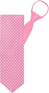 "Jacob Alexander Polka Dot Print Boys 14"" Polka Dotted Zipper Tie"