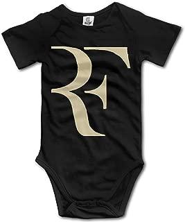 Roger Federer Logo Geek Short Sleeves Variety Baby Onesies Romper for Babies