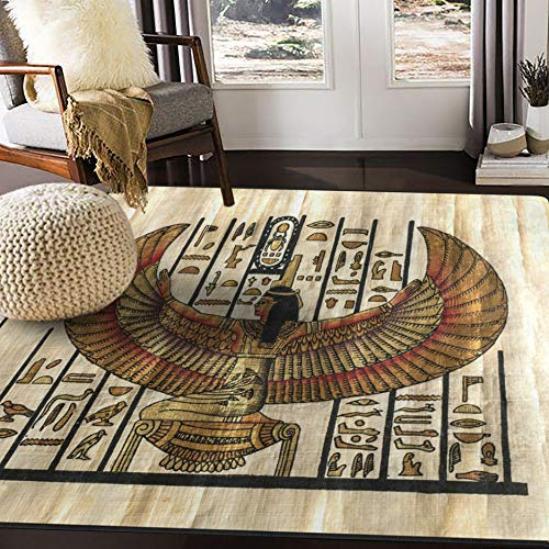 ALAZA Egyptian Ancient Parchment Culture Vintage Area Rug Rugs for Living Room Bedroom 7' x 5'
