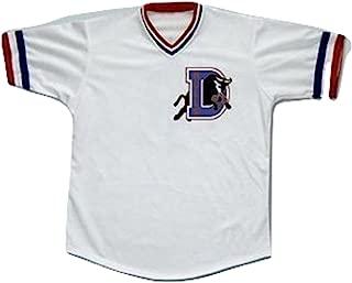 borizcustoms Crash Davis Durham Baseball Jersey Stitch Sewn New Shirt