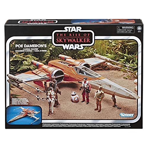 Star Wars The Vintage Collection The Rise of Skywalker Poe Dameron?S X-Wing Fighter Toy Vehicle, Toys for Kids Ages 4 & Up