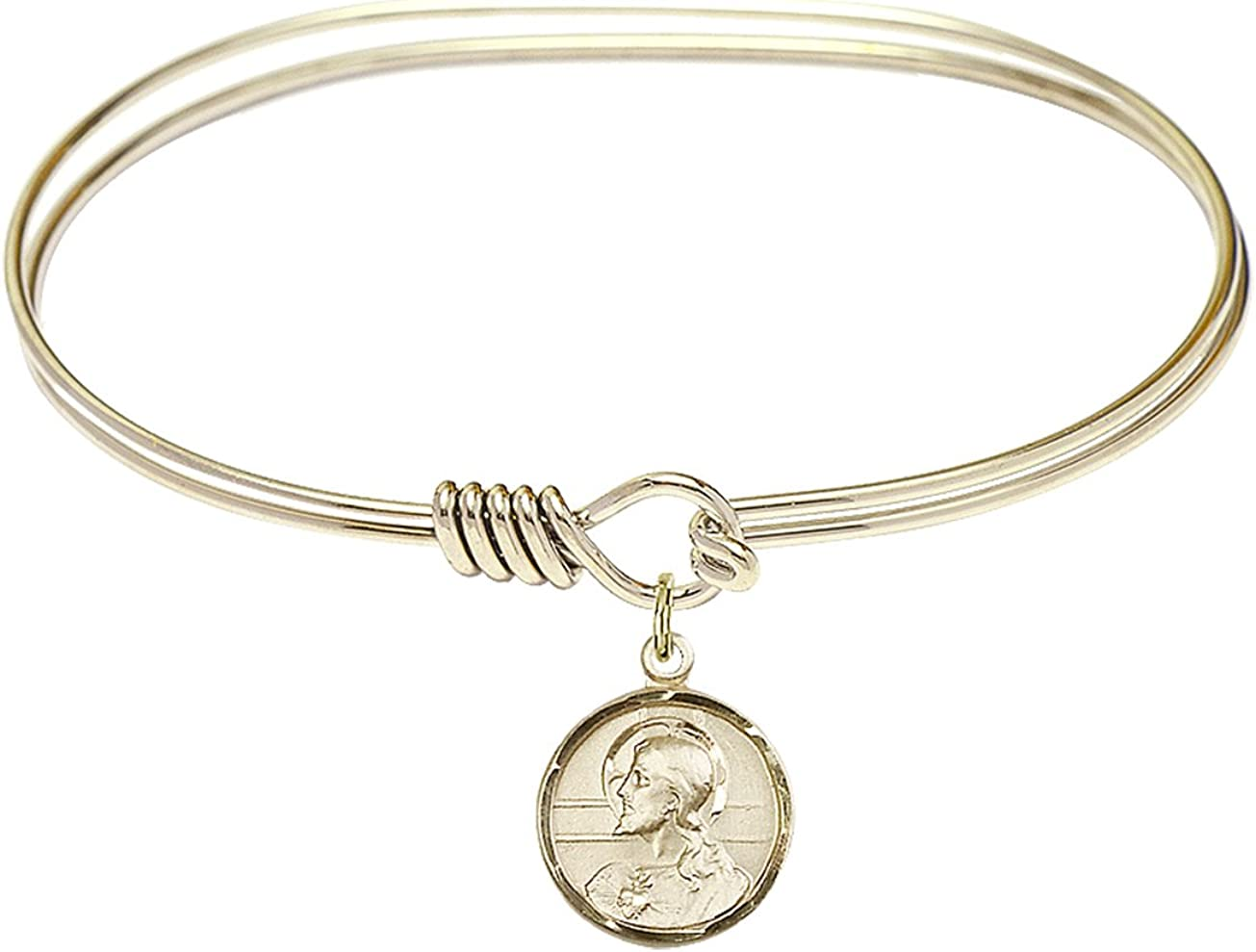 DiamondJewelryNY Eye Hook Be super welcome Bangle Bracelet with Charm. a Scapular Free Shipping Cheap Bargain Gift