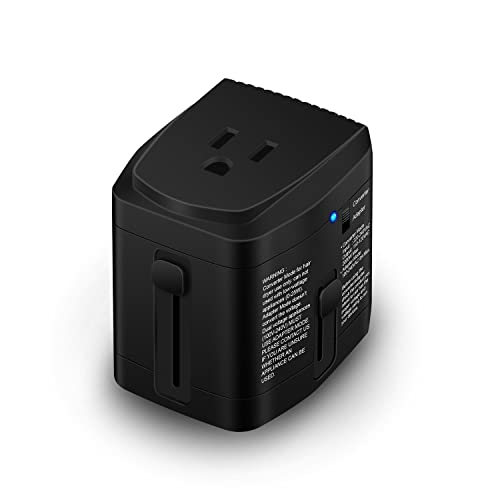 [UL Test Pass] World Travel Plug Power Adapter and 2000 Watts Voltage Converter Combo