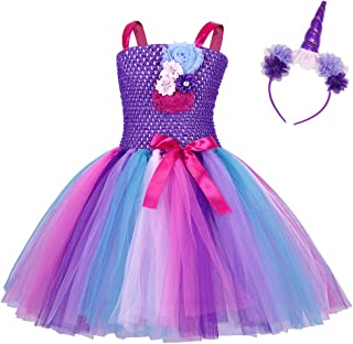 AmzBarley Unicorn Costume Dress for Girls Halloween Princess Fancy Party Dress Up Holiday Outfits