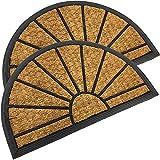 Home Line Felpudo de goma y fibra de coco 40 x 60 cm – Alfombrilla para puerta para interior y exterior – Felpudo felpudo para puerta