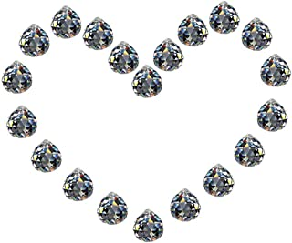H&D Clear Chandelier Crystal Ball Prisms Pendant Rainbow Crystal Suncatcher DIY Parts, Pack of 20
