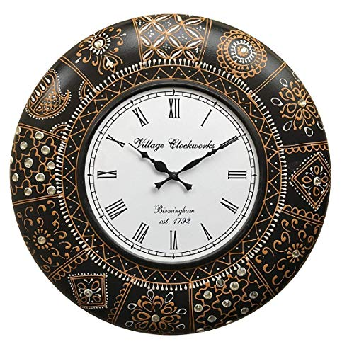 RoyalsCart Floral Design Painting Analog Wall Clock [KTWC285N]