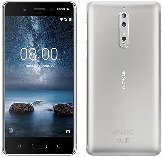Nokia 8 TA-1004 64GB/4GB Dual Sim Steel (Silver) - Factory Unlocked Global Version - GSM ONLY, NO CDMA - NO Warranty in The US