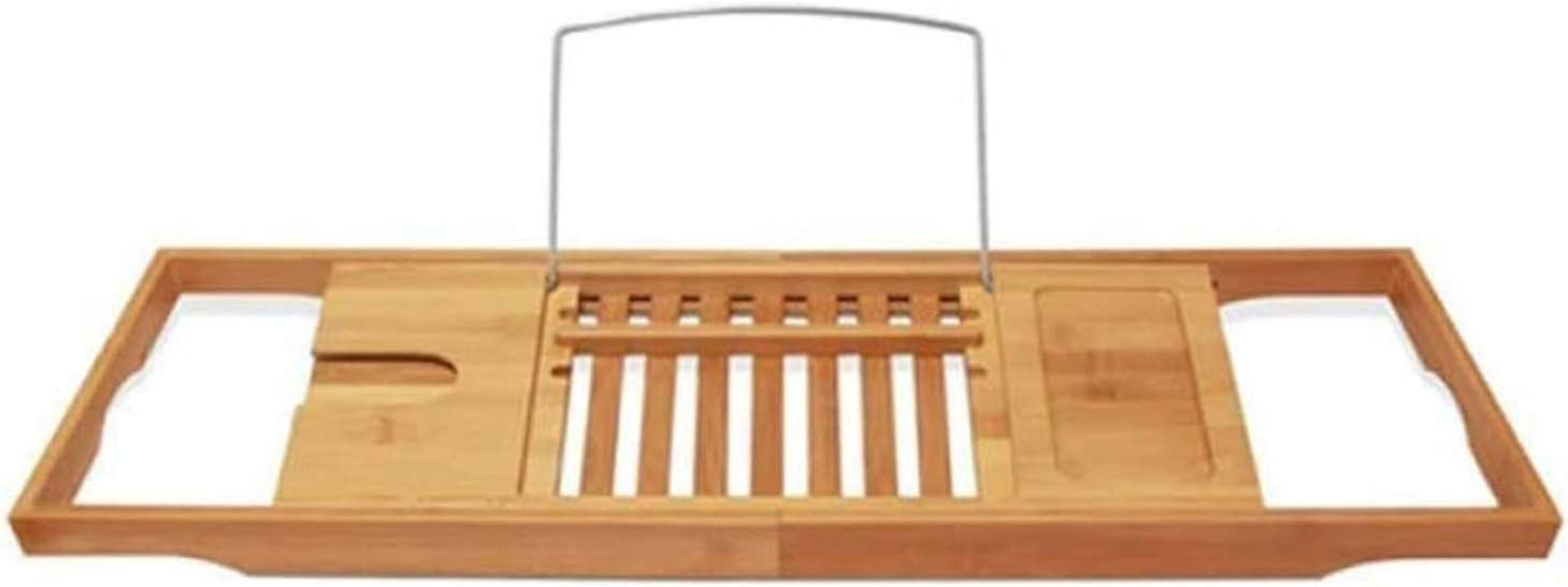YKUVDE Expandable Bathtub Caddy Tray Trust Bath Tabl Bamboo with Overseas parallel import regular item