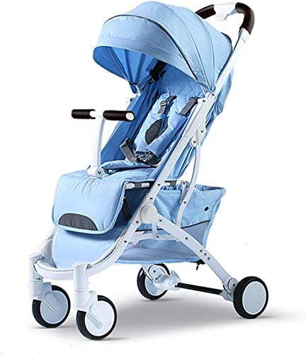 Kinderfürr r Kinderlaufkatze Dreirad Für Kinder Tragbarer Bequemer Kinderwagen Faltbarer Sto ster Wagen Travel System (Farbe   Blau, Größe   53  65  10cm  )
