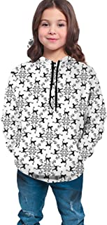 Boys Girls Hoodies Pullover Unisex 3D Monkey Flower Vine Lattice Print Sweatshirts Hooded with Pocket 6-16Y
