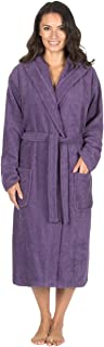 Ladies 100% Cotton Terry Towelling Hooded Robe