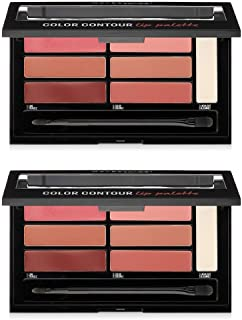 (2 Pack) Maybelline New York Lip Studio Color Contour Lip Palette, Blushed Bombshell, 0.17 Ounce