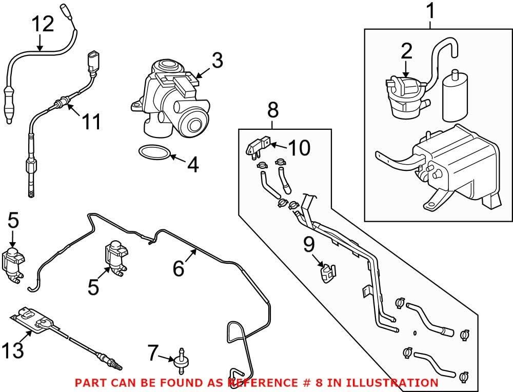 Genuine OEM Evaporative Emissions System for Lines Factory outlet San Diego Mall Audi 7L613155