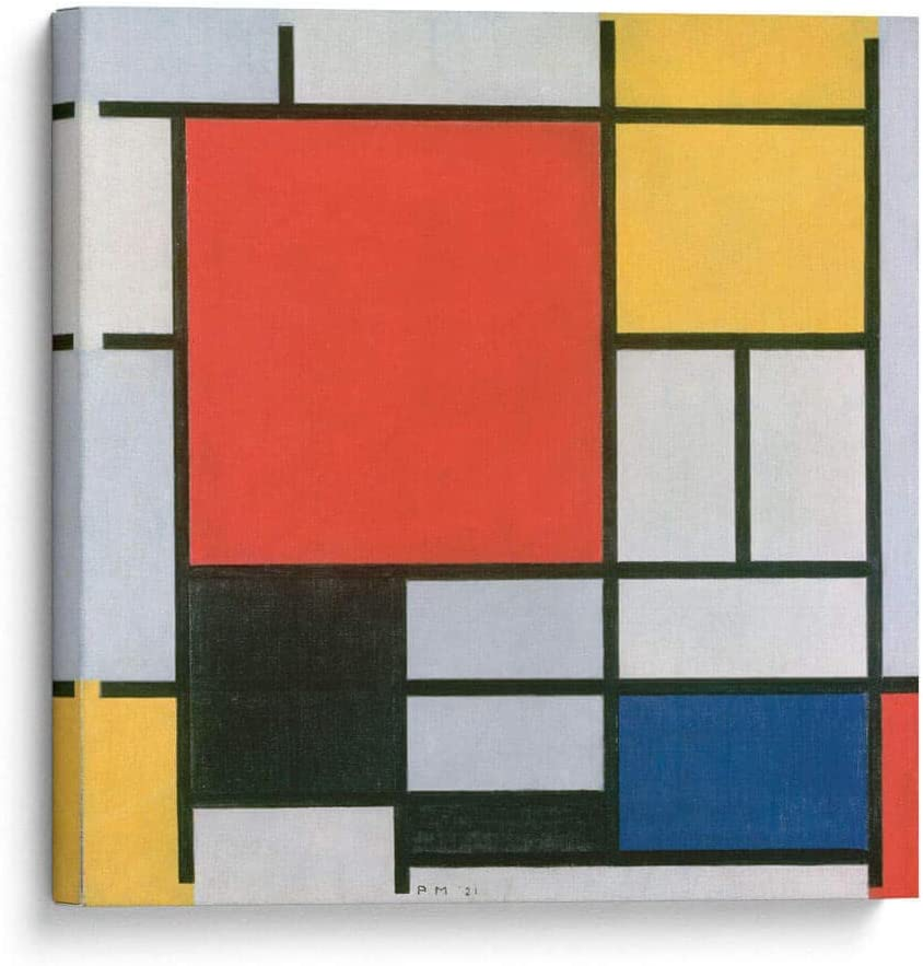 Canvas Lab New product!! Wall Art Easy-to-use by Piet Mondrian Composition with L -