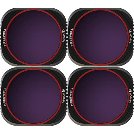 Freewell Bright Day – 4K Series – 4Pack ND8/PL, ND16/PL, ND32/PL, ND64/PL Camera Lens Filters Compatible with Mavic 2 Pro Drone