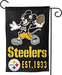 Dalean Pittsburgh Steelers Double Sided Warm Garden Flags, Weather Resistant Garden Flags, Best Party Yard and Home Outdoor Decor