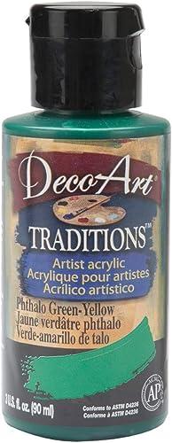 ventas en línea de venta Art Déco Déco Déco tradizioni acrilici 3 once-Phthalo verde-amarillo  salida de fábrica
