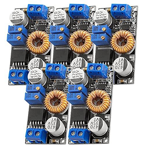 AZDelivery 5 x XL4015 Trasformatore di Tensione DC-DC Step Down modulo 5A 8-36V a 1,25-32V, compatibile con Arduino incluso un E-Book!