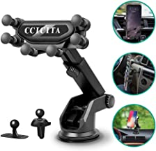 Phone Holder for Car, CCICITA Gravity Automatic Locking Cell Phone Car Mount Air Vent 3 in 1 Universal Stable Stand Clip Holders Compatible with iPhone Samsung Galaxy Note