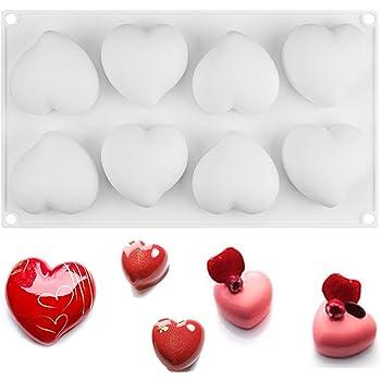 Heart Silicone Mold DIY Mousse Cake Baking Tools Chocolate Decoration Bakeware
