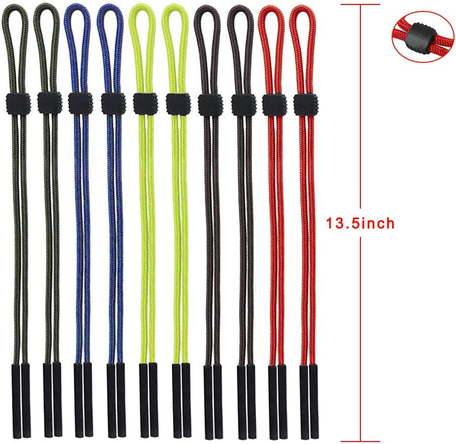 Adjustable Sunglass Strap Safety Eyeglasses Strap Sports Neck Cord String Eyewear Retainer Strap Attmu Pack of 10 Glasses Strap for Men Women