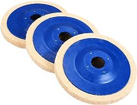 ENE 3 ST Polijstkussens Buffing Hoek Grinder Wiel Vilt 100 mm Polijsten Disc Pad Set (Size : A)